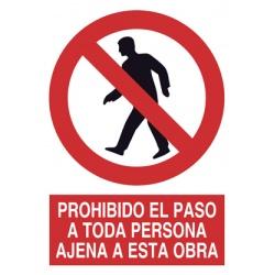 Prohibido el Paso Persona...